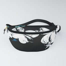 Dogwood Blossom In Blue/Green Abstract Fanny Pack
