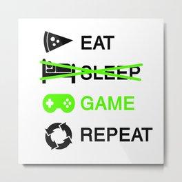 Funny Gamer Controller PC Nerdy Geek Avatar Gift Metal Print