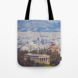 Ancient Cityscape Tote Bag
