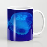 jellyfish Mugs featuring 🔵 Jellyfish by Nadia Bonello - Trū Artwear
