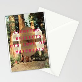 Lighting refelcts his love of materials (San Pietro Pendant and Mariposa Grove) Stationery Cards