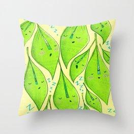 Sleepy Leaves  Throw Pillow