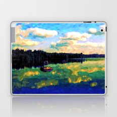 The Giant's Steps On The Lake - Painting Style Laptop & iPad Skin