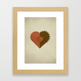 Beauty and the Beast - No Text Framed Art Print