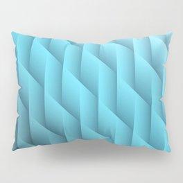 Gradient Teal Diamonds Geometric Shapes Pillow Sham
