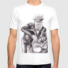 wookie wild one White MEDIUM Mens Fitted Tee