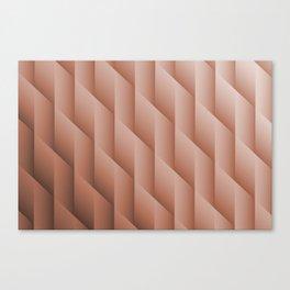Sherwin Williams' Canyon Clay Gradient Diamonds, Ombre Geometric Shape Pattern Canvas Print
