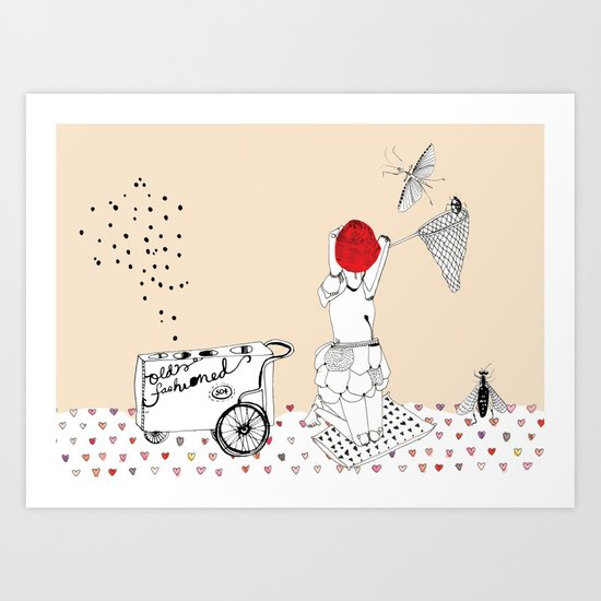 Catch more flies with honey... Art Print