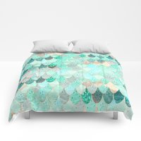 Comforters featuring SUMMER MERMAID by Monika Strigel
