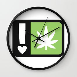 marijuana universal symbol of love Wall Clock