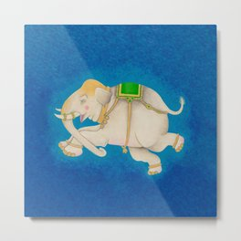 Happy Dreamtime Elephant Metal Print