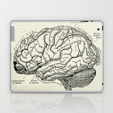 Vintage medical illustration of the human brain Laptop & iPad Skin