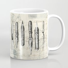 French Paris Writing Ink Nibs Coffee Mug