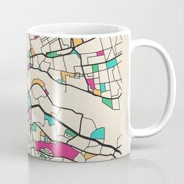 Colorful City Maps: Newcastle upon Tyne, UK Coffee Mug