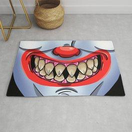 Scary Clown Face Rug