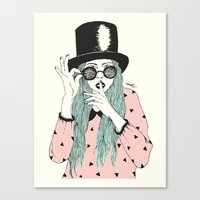 hat Canvas Prints featuring  ''Hat'' by Indi Maverick
