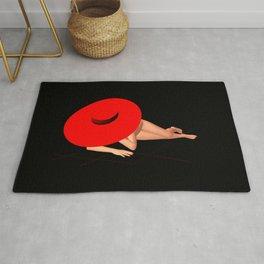 Der rote Hut Rug
