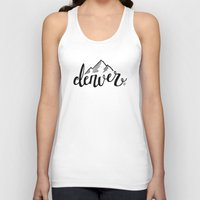 denver Tank Tops featuring Denver by Katie Dondale