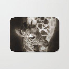 Baby Giraffe and Mother Bath Mat