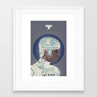 tron Framed Art Prints featuring Tron by Virtual Window