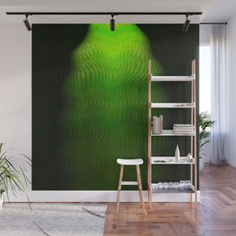 Abstract Green Weave Wall Mural