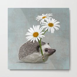 Hedgehog in love Metal Print