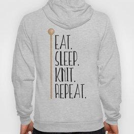 Eat Sleep Knit Repeat Hoody