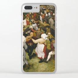 Pieter Bruegel I - The Wedding Dance Clear iPhone Case