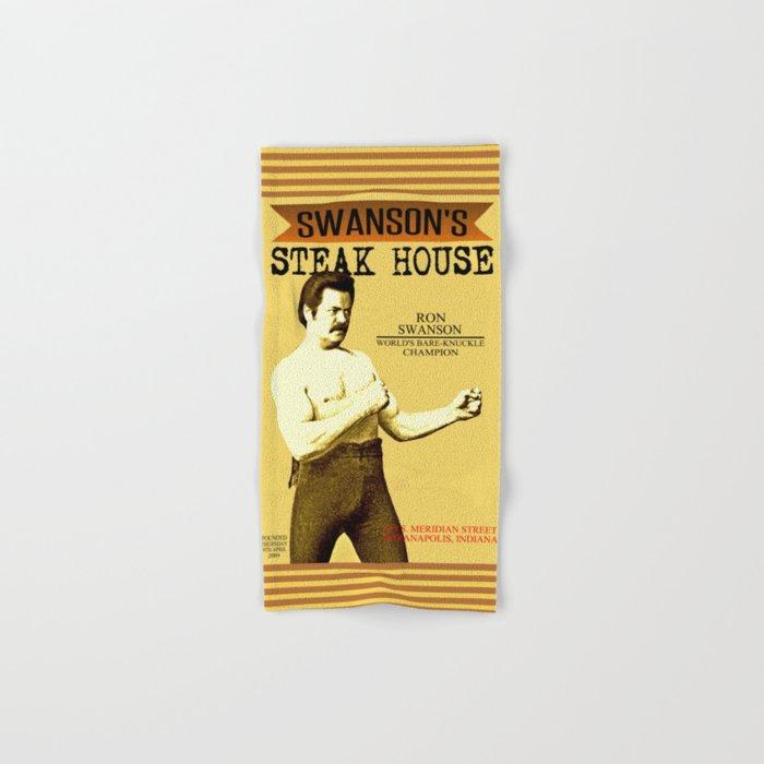 Ron Swanson     Steak House Parody    Parks and Recreation Hand & Bath Towel