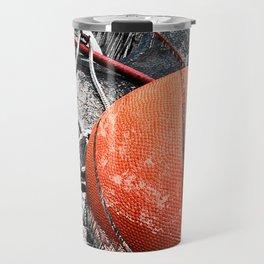 Modern Basketball Art 8 Travel Mug