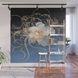 Beautiful Abstract Floral Wall Mural