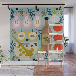 Fruit and Salad In the Kitchen Wall Mural
