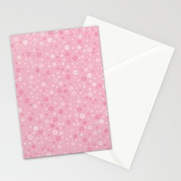 Pink Flowers Stationery Cards