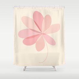 Flower in my garden (Abstract minimalism artwork) Shower Curtain