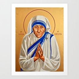 Saint Teresa of Calcutta (Mother Teresa) Art Print