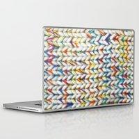knit Laptop & iPad Skins featuring Knit Pattern  by Manuela Mishkova