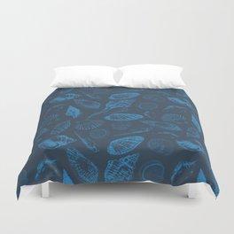 Tropical sea shells Duvet Cover