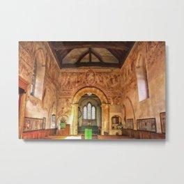 Clayton Church Interior Metal Print