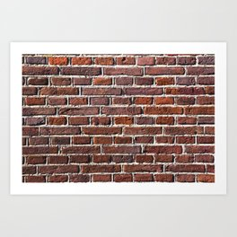 Red Brick Stone Wall Pattern Art Print