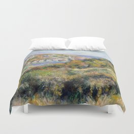 "Auguste Renoir - ""Hills around the Bay of Moulin Huet"" Duvet Cover"