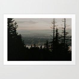 Vancouver at night Art Print