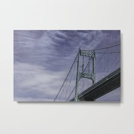Suspension Bridge Thousand Islands, New York Metal Print