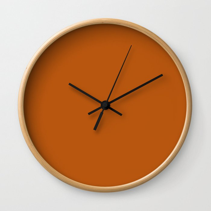 Ginger - Solid Color Collection Wall Clock