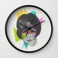 makeup Wall Clocks featuring Makeup by Zeke Tucker
