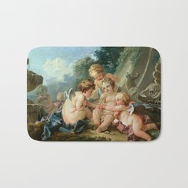 """François Boucher """"Cupids in Conspiracy"""" Bath Mat"""