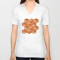 escher V-neck T-shirts featuring Escher #001 by rob art | simple
