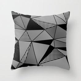 Monochrome Polygons Throw Pillow