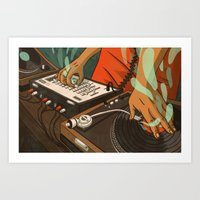 When The Beat Was Born Remix Art Print