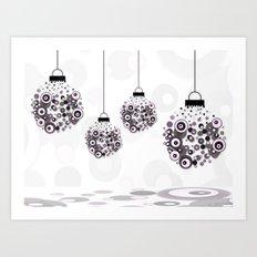 Modern Christmas balls CB Art Print