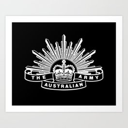 The Australian Army Art Print